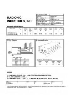 E226T CFL ballast
